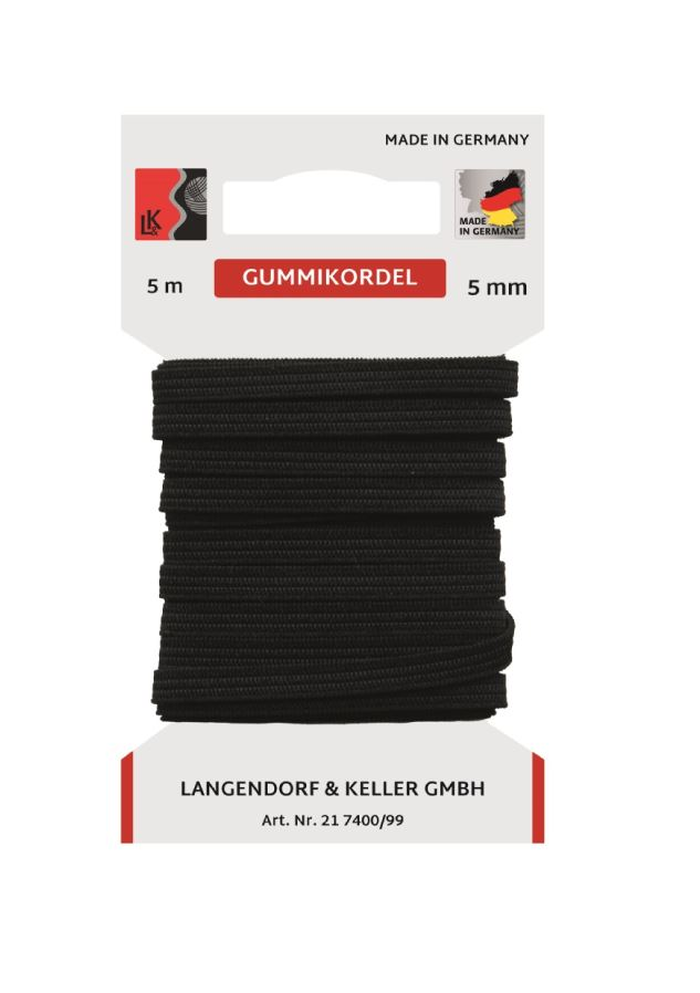 L&K Standard Elastic 5mm SB (5m)  Made in Germany