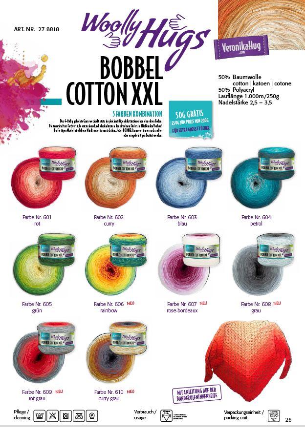 Woolly Hugs BOBBEL cotton XXL 250g 1kg